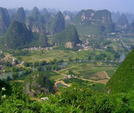 Landschaft Nordvietnams